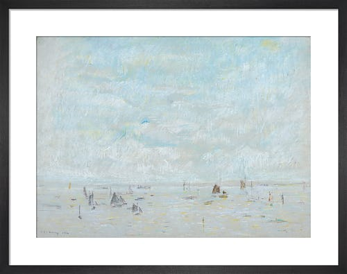 Yachts, 1920 by L.S. Lowry