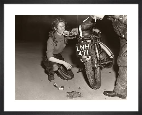Girl with Triumph and roll-up from Stilltime