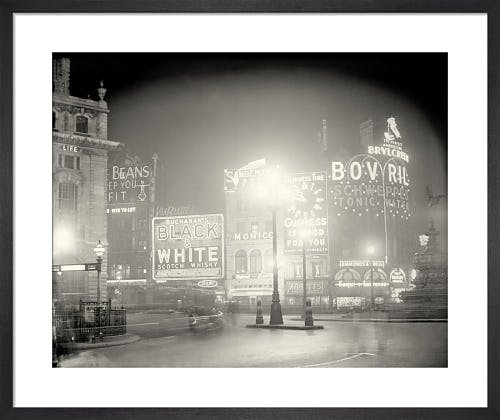 Piccadilly Circus at night, 1920s from Stilltime