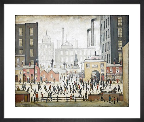 Coming From The Mill, 1930 by L.S. Lowry