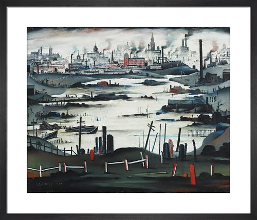 The Lake, 1937 by L.S. Lowry