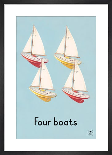 Four boats by Ladybird Books'