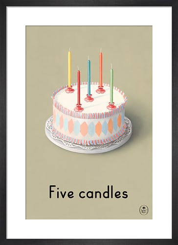 Five candles by Ladybird Books'