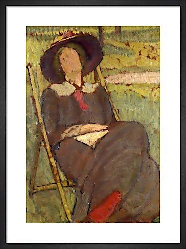 Virginia Woolf in a Deckchair, 1912 by Vanessa Bell