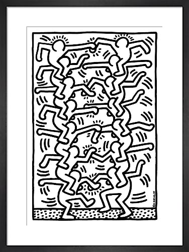 Untitled (people ladder), 1984 by Keith Haring