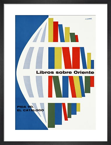 Libros sobre Oriente (Books on the East) by Abram Games