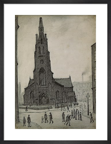 Street Scene (St Simon's Church), 1927 by L.S. Lowry