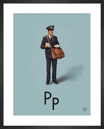 P is for postman by Ladybird Books'