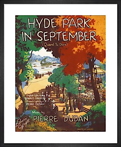 Hyde Park in September from Art Inspired by Music