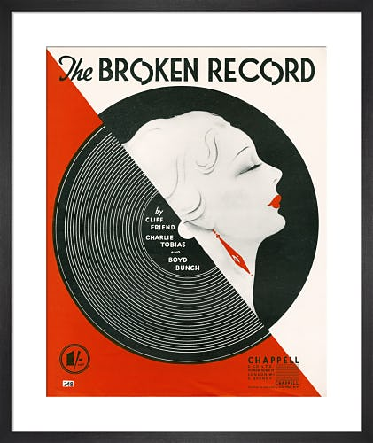 The Broken Record from Art Inspired by Music