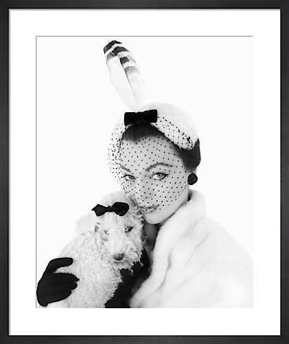Vogue January 1954 by Henry Clarke