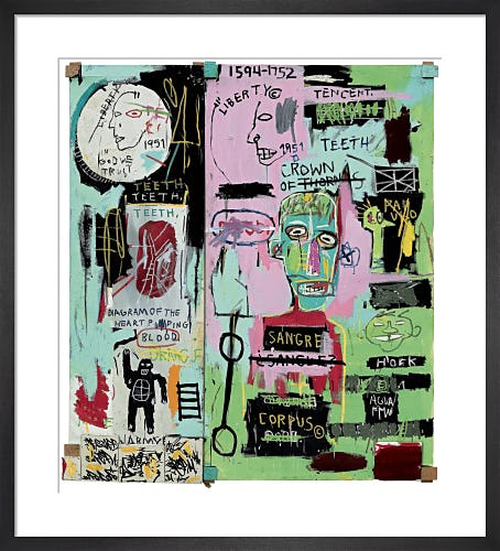 In Italian, 1983 by Jean-Michel Basquiat