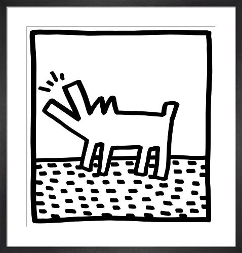 Untitled, (barking dog) by Keith Haring