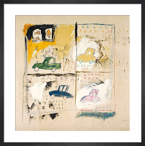 Old Cars, 1981 by Jean-Michel Basquiat