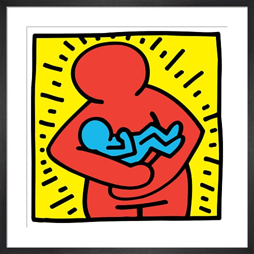 Untitled (mother and baby) by Keith Haring