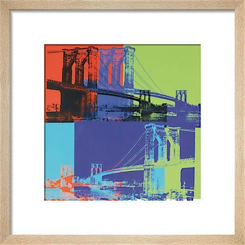 Brooklyn Bridge, 1983 (orange, blue, lime) by Andy Warhol