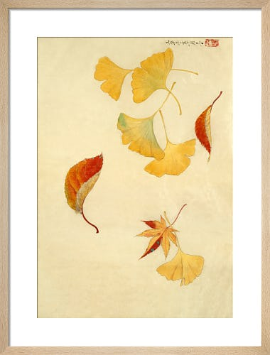 Autumnal red and yellow leaves from V&A
