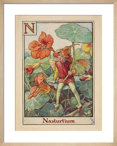 Nasturtium Fairy by Cicely Mary Barker