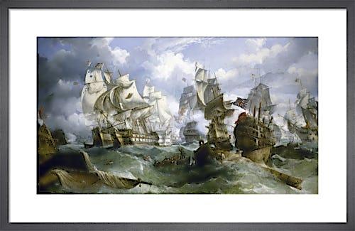 The Battle Of Trafalgar by William Stuart