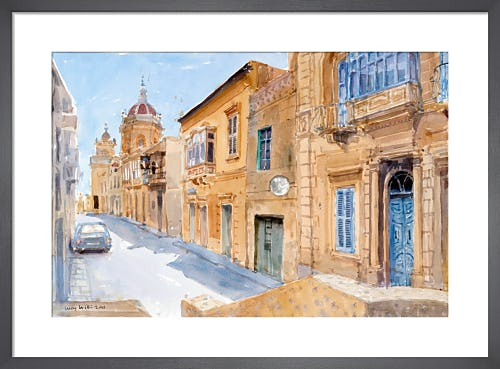 Looking towards the Church, Xaghra, Gozo by Lucy Willis