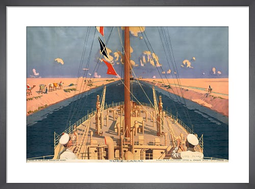 Empire Marketing Board - Suez Canal by Charles Pears