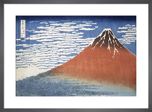 Red Fuji: South Wind, Clear Dawn by Katsushika Hokusai