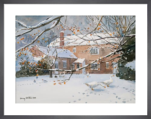 Farmhouse in The Snow by Lucy Willis