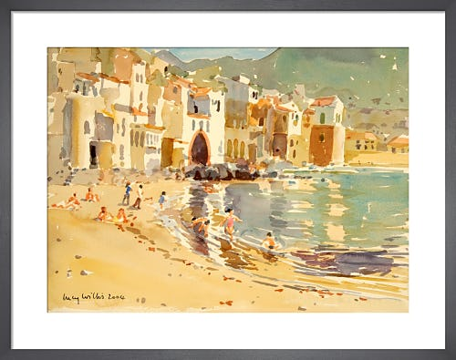 The Fishing Harbour, Cefalu, Sicily by Lucy Willis