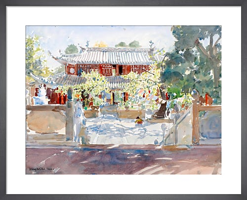 Buddhist Temple by Lucy Willis