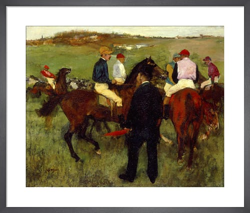 Racehorses (Leaving the Weighing) c.1871-72 by Edgar Degas