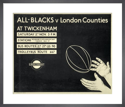 All-Blacks v London Counties, 1935 from London Transport Museum