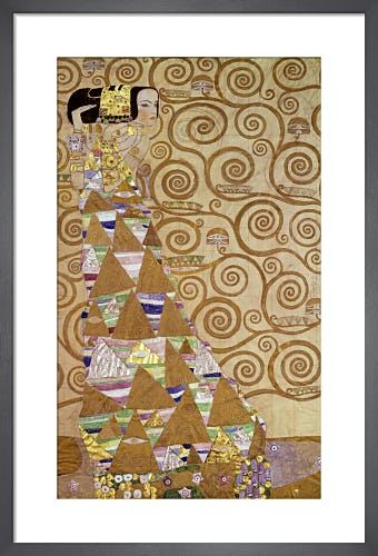 The Expectation, panel for the Stoclet Frieze 1905-1911 by Gustav Klimt