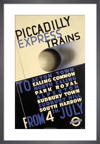 Piccadilly express trains, 1932 by Edward McKnight Kauffer