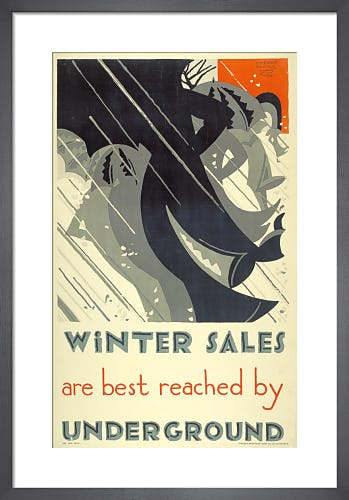 Winter sales, 1921 by Edward McKnight Kauffer