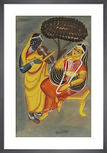 Krishna and Radha, c.1885 from V&A