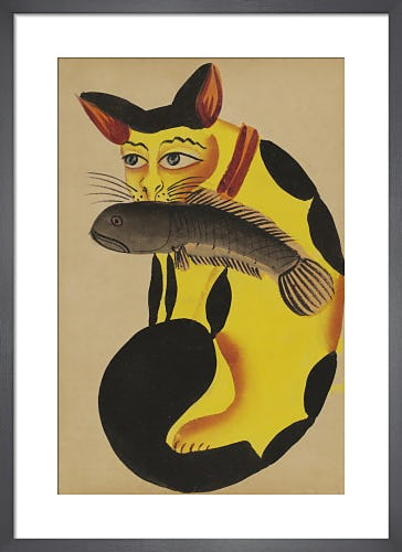 Cat with a fish in its mouth, c.1890 from V&A