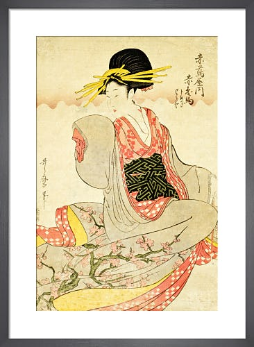 Akahime of The Akatsutaya House by Kitagawa Utamaro I