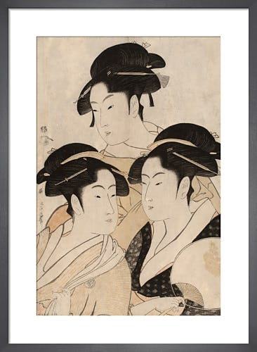 Portraits of three Japanese beauties by Kitagawa Utamaro I