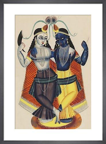 Krishna and Balarama, c.1855 from V&A