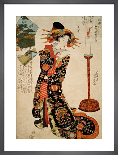 Pine Tree of Sumi-ya and Tayu of Shimabara, Kyoto by Utagawa Kunisada I