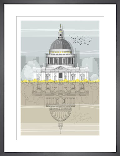 London St. Paul's Cathedral by Linescapes