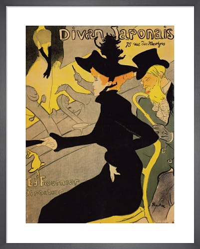 Le Divan Japonais by Henri de Toulouse-Lautrec