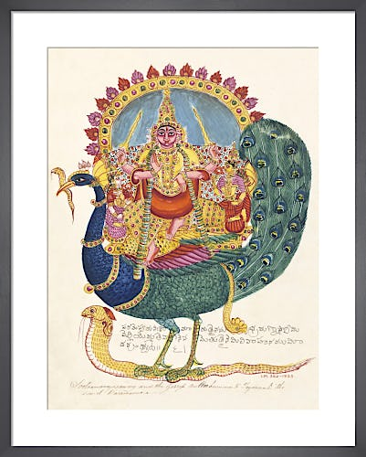 The god Subrahmanya, the god of war, c.1825 from V&A