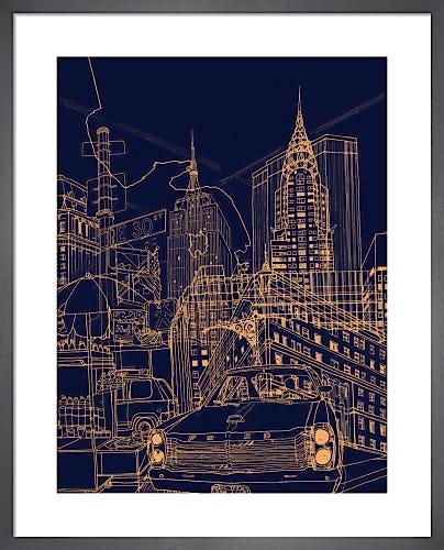 New York - Night Time by David Bushell