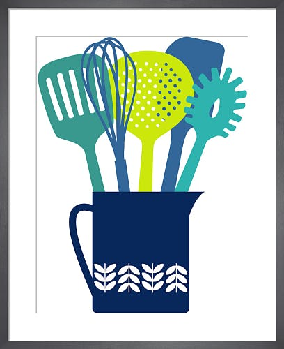 Utensils Jug Cool Colours by Marie Perkins