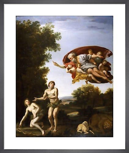 The Expulsion of Adam and Eve by Domenichino