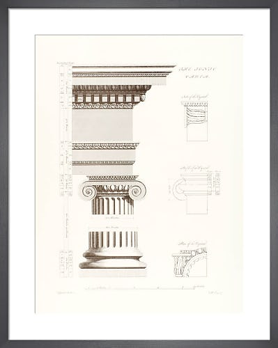 Orders of Architecture: The Ionic Order by Sir William Chambers