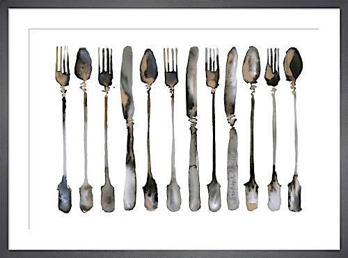Row of Cutlery by Bridget Davies