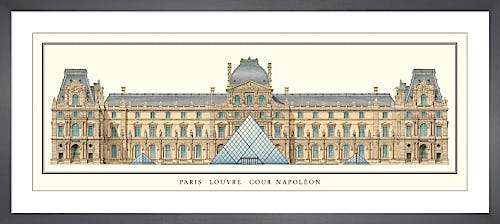 Paris - Louvre, Cour Napoleon by Anonymous