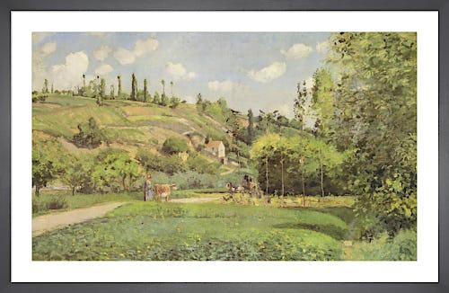 A Cowherd on the Route du Chou, Pontoise 1874 by Camille Pissarro